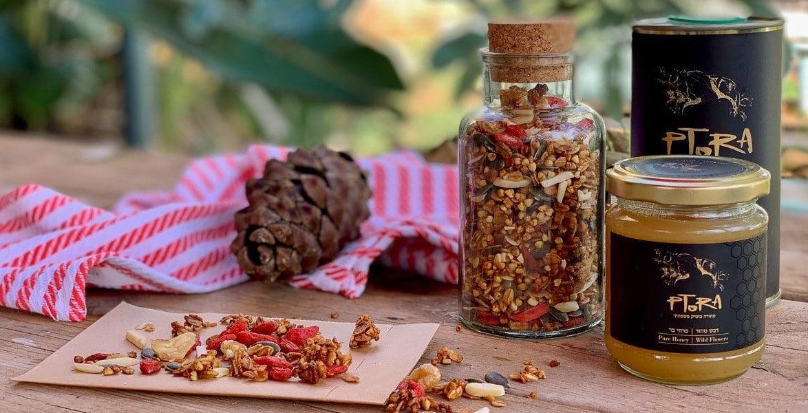 דבש ושמן זית בגרנולה